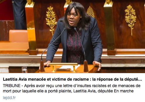 Tribune de Laetitia Avia – JDD – 03/03/18