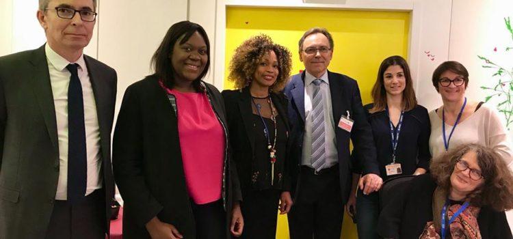 Visite avec la Ministre des Sports  de l'Hôpital Trousseau – 29/03/18
