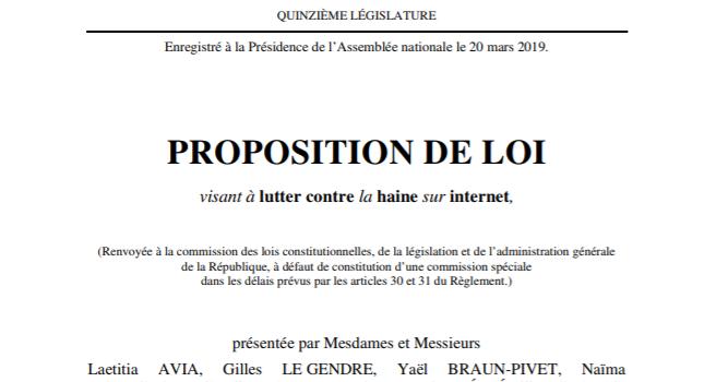 Ma proposition de loi visant à lutter contre la haine sur internet