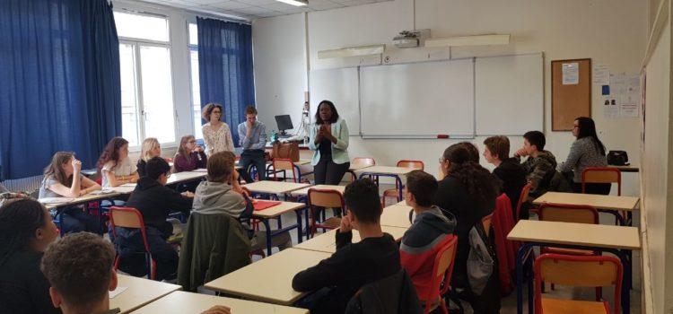 Débat au lycée Maurice Ravel
