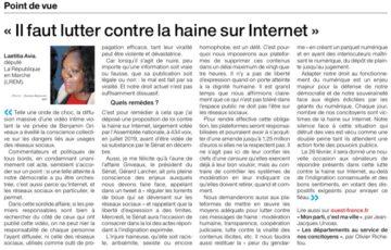 """🗞️ TRIBUNE – """" Il faut lutter contre la haine sur Internet """""""